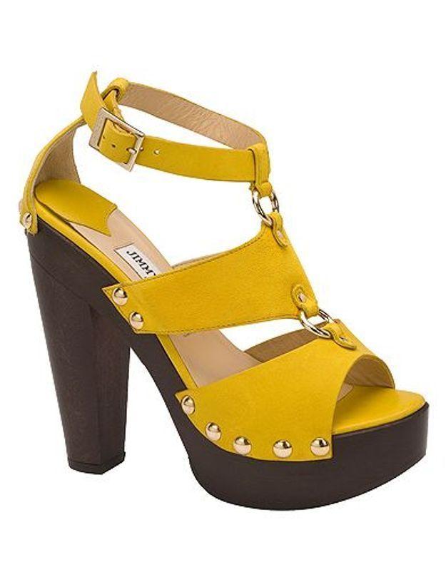 Mode guide shopping tendance chaussures talon bois jimmy choo