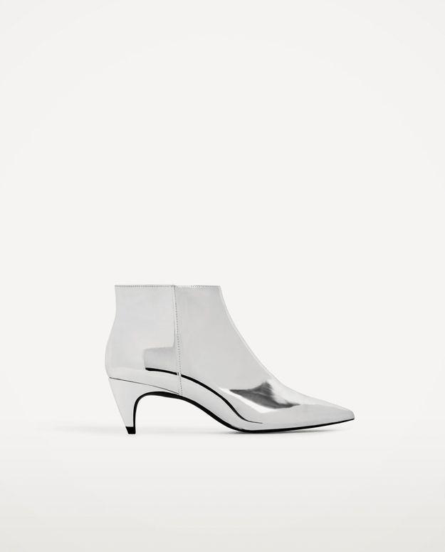 Bottines argentées Zara