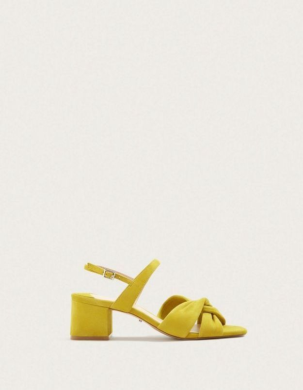 Chaussures jaunes Mango