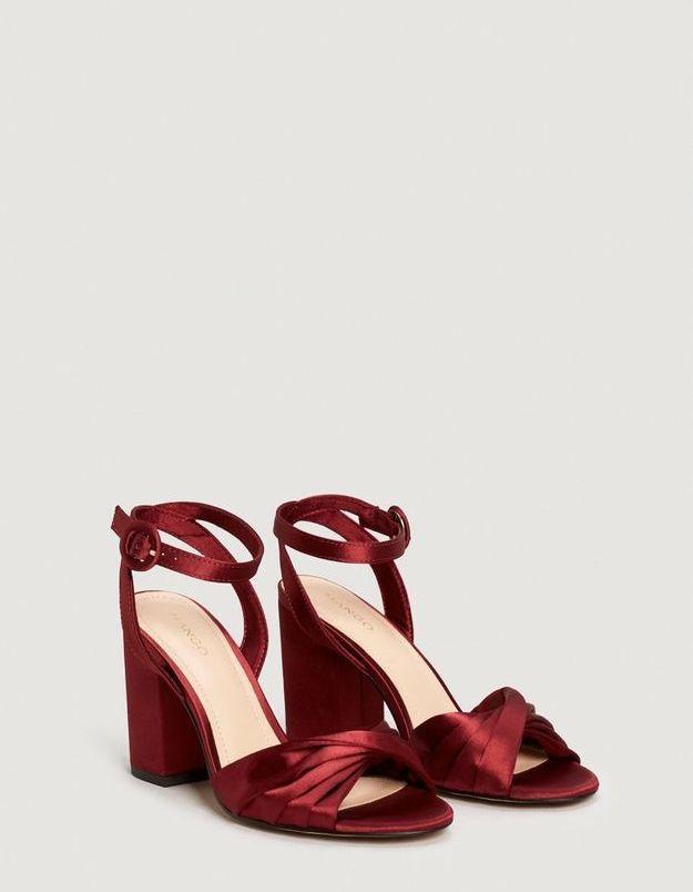 Chaussures satin Mango