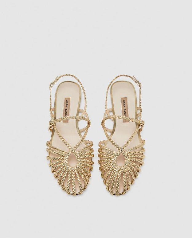Chaussures Zara dorées
