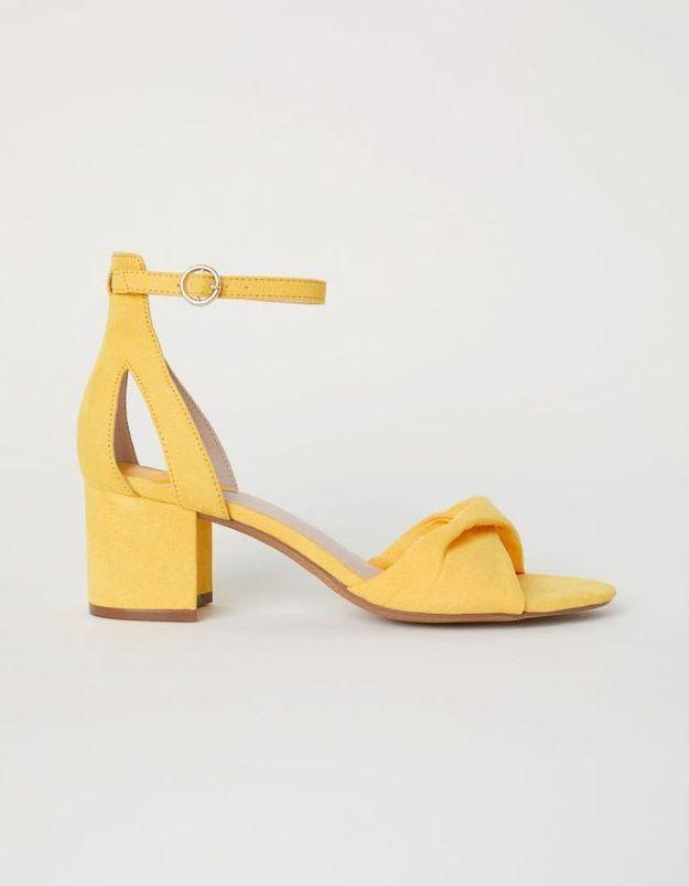Sandales jaunes H&M