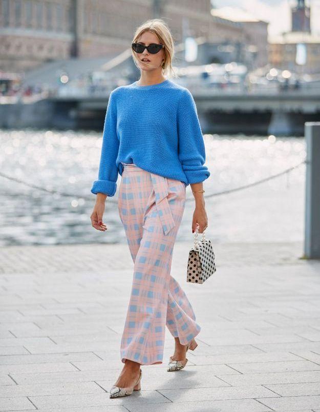 Bleu roi + rose pastel
