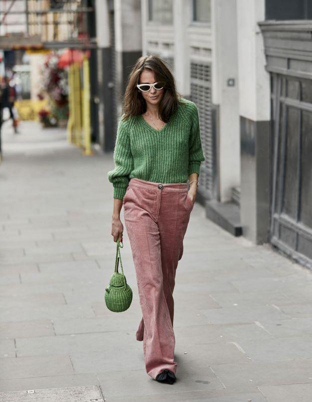 Vert sapin + rose pastel