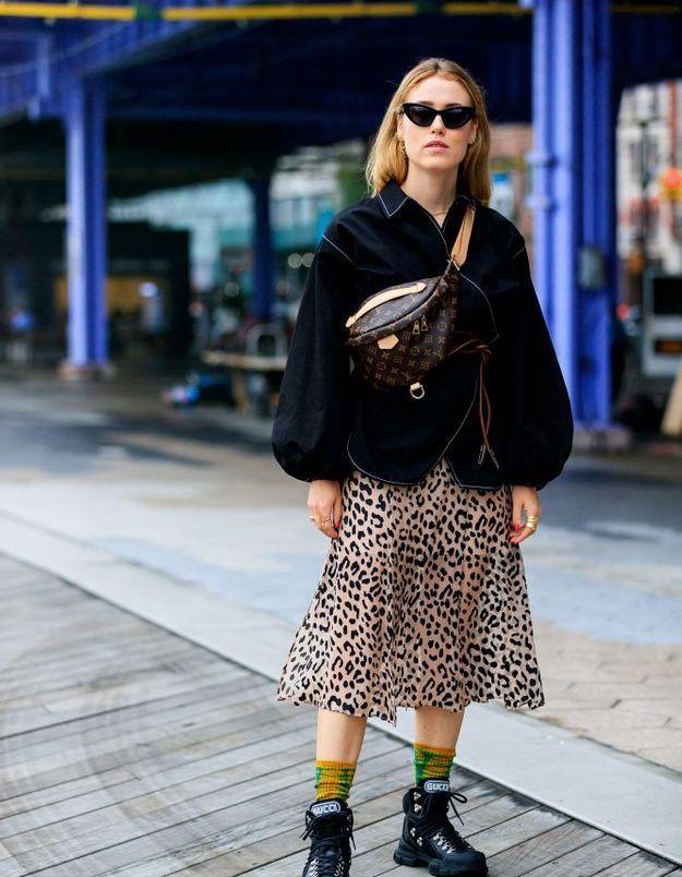 Une jupe léopard