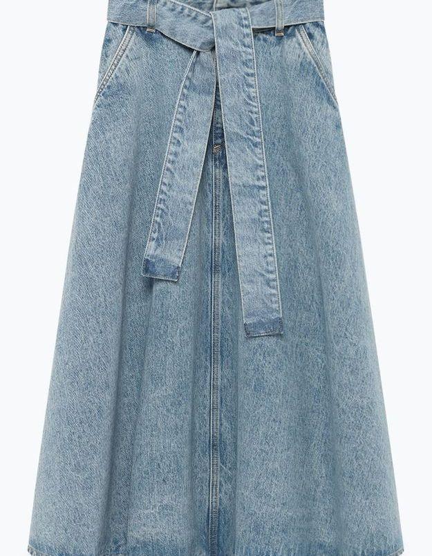 Jupe midi en jean American Vintage
