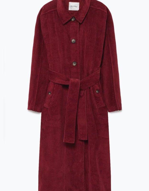 Manteau en velours American Vintage
