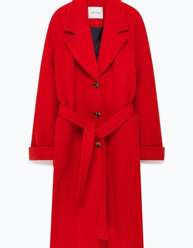 Manteau rouge American Vintage