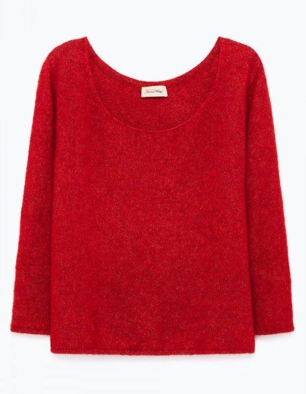 Pull rouge American Vintage