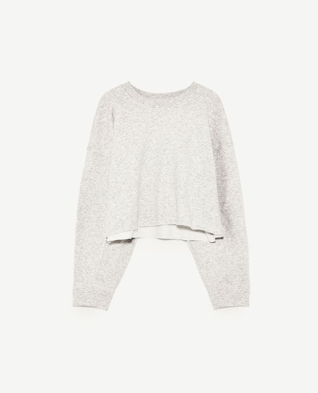 Sweat-shirt court Zara