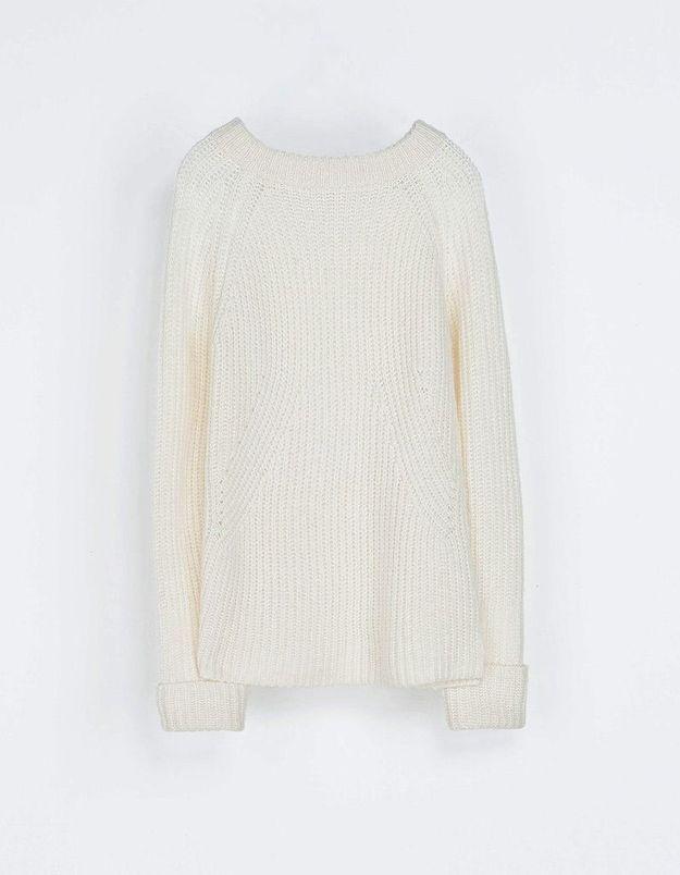 Un pull blanc