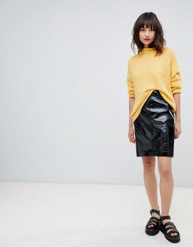 Un jupe en cuir