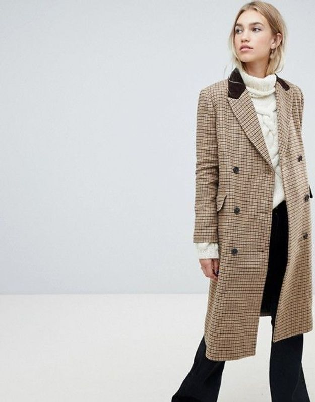Un manteau pied-de-poule