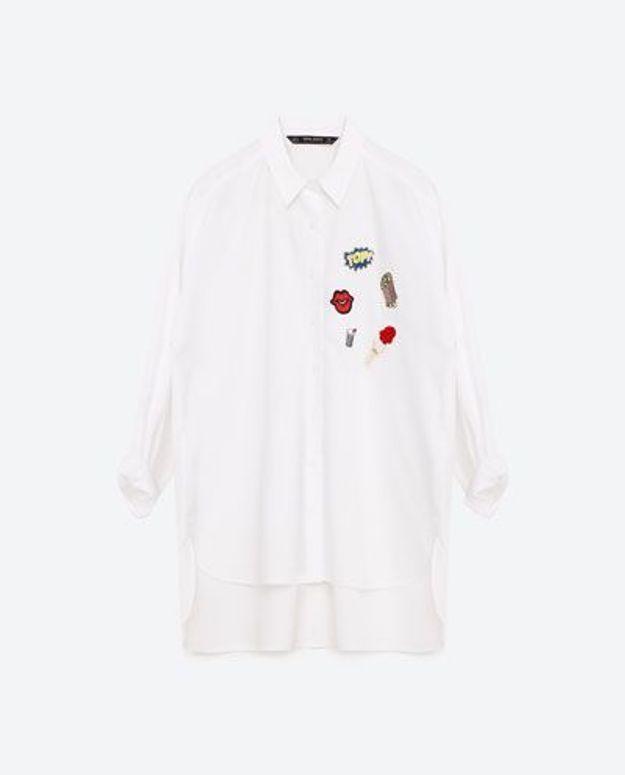 Chemise avec des écussons Zara
