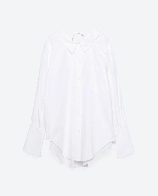 Chemise avec manches destructurées Zara