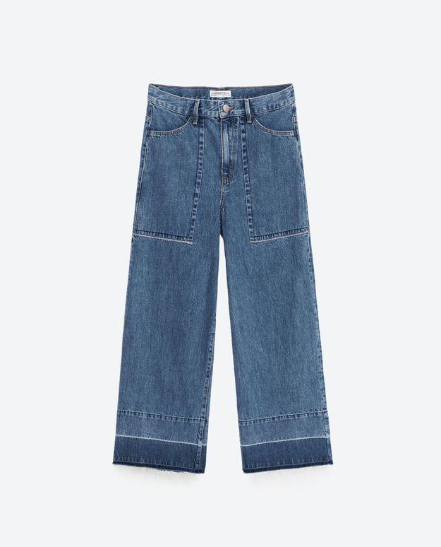 Jupe culotte en jean Zara
