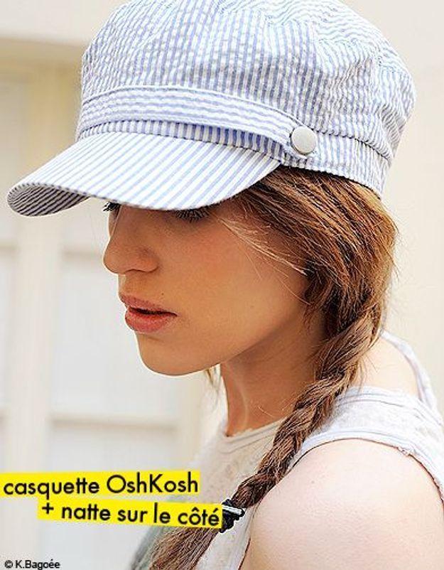 casquette OshKosh + natte sur le côté