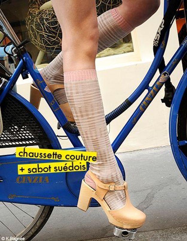 chaussette couture + sabot suédois