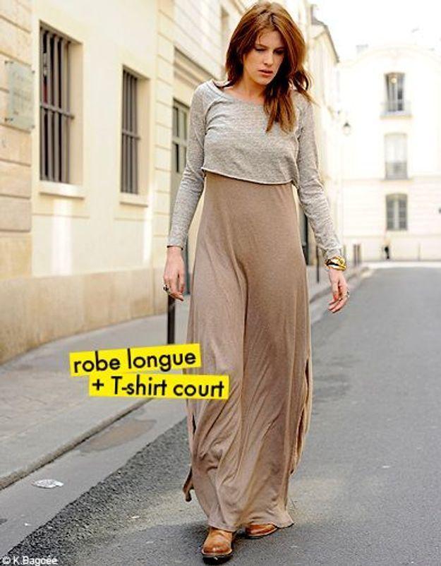 robe longue + T-shirt court