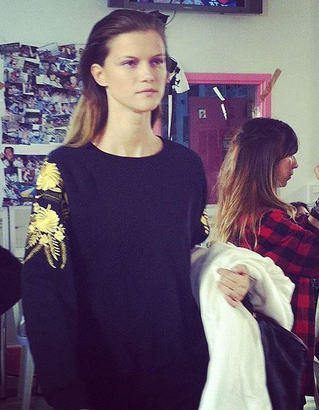Défilé Isabel marant : mannequin en backstage
