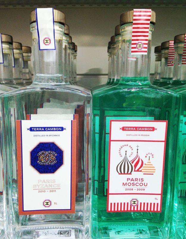 Les vodkas au nom des anciennes collections des Métiers d'Art
