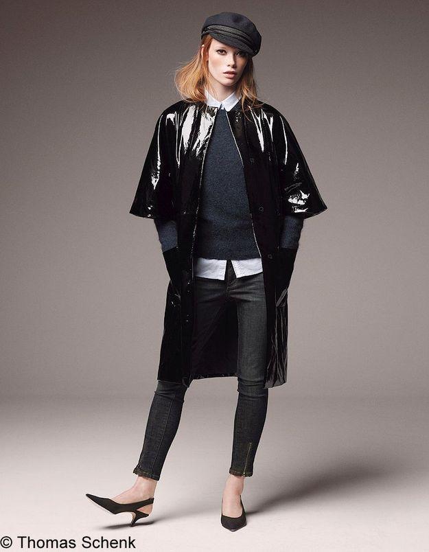 Manteau en cuir verni Dior