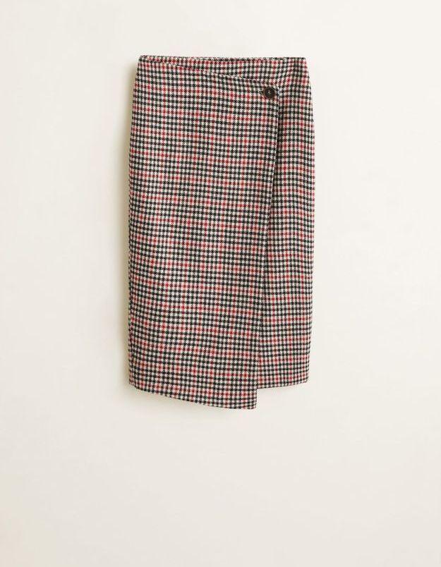 Une jupe portefeuille