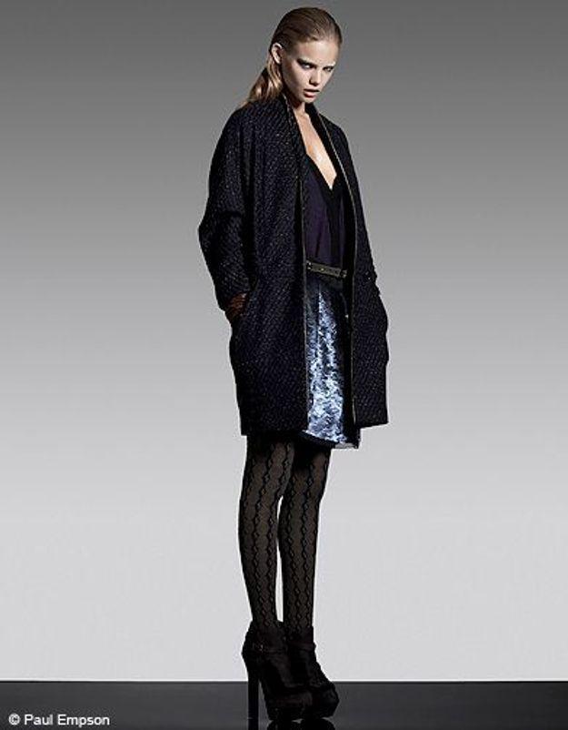 La jupe lamée danse le tweed