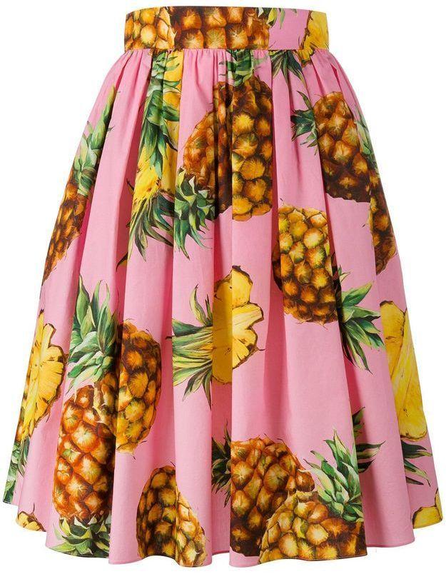 Jupe ananas Dolce & Gabbana