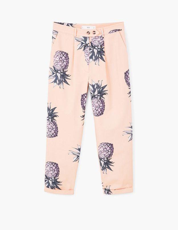 Pantalon imprimé ananas Mango