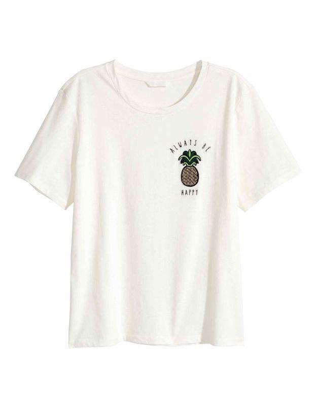 T-shirt imprimé ananas H&M