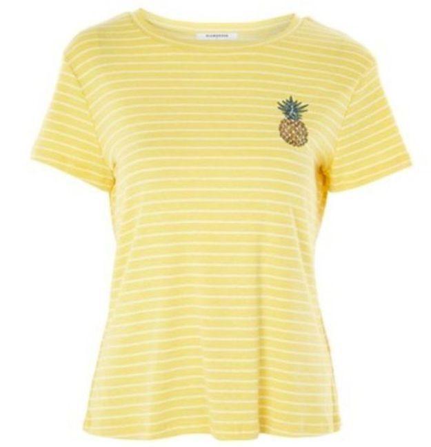 T-shirt imprimé ananas Topshop