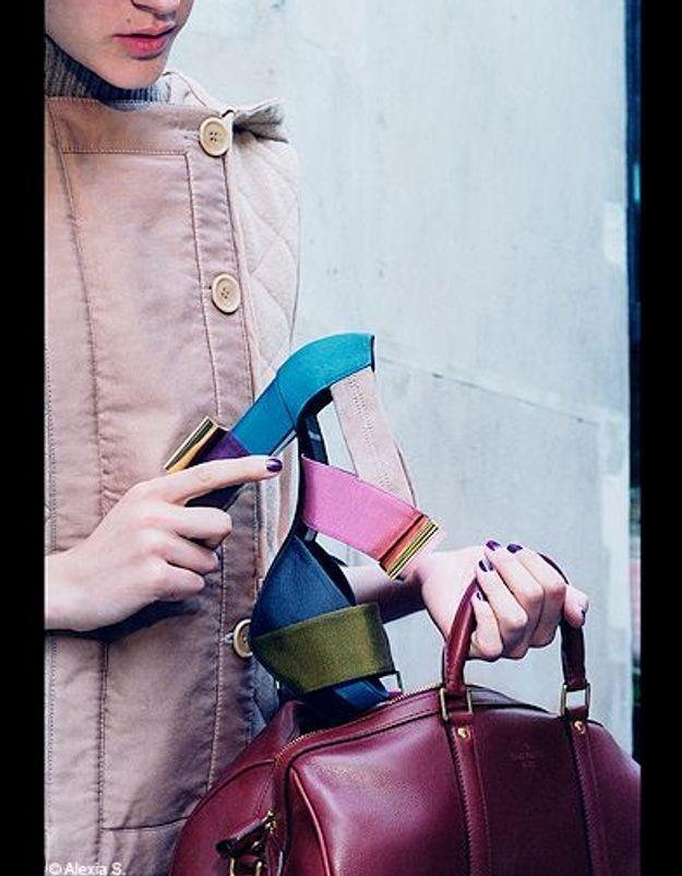 Mode tendances look accessoires chaussures p256