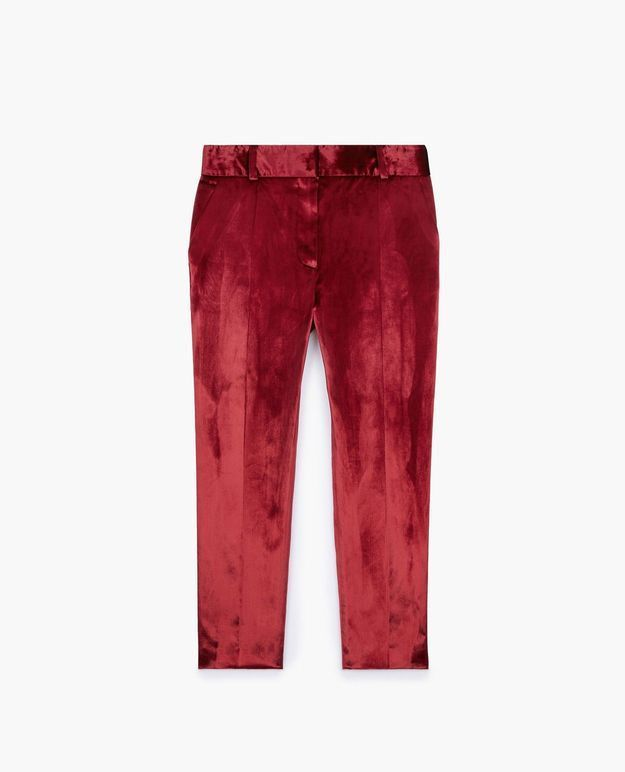 Pantalon en velours rouge The Kooples