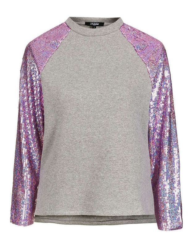 T shirt sequins Top Shop