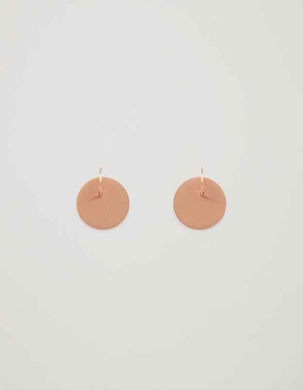 Boucles d'oreilles roses Cos