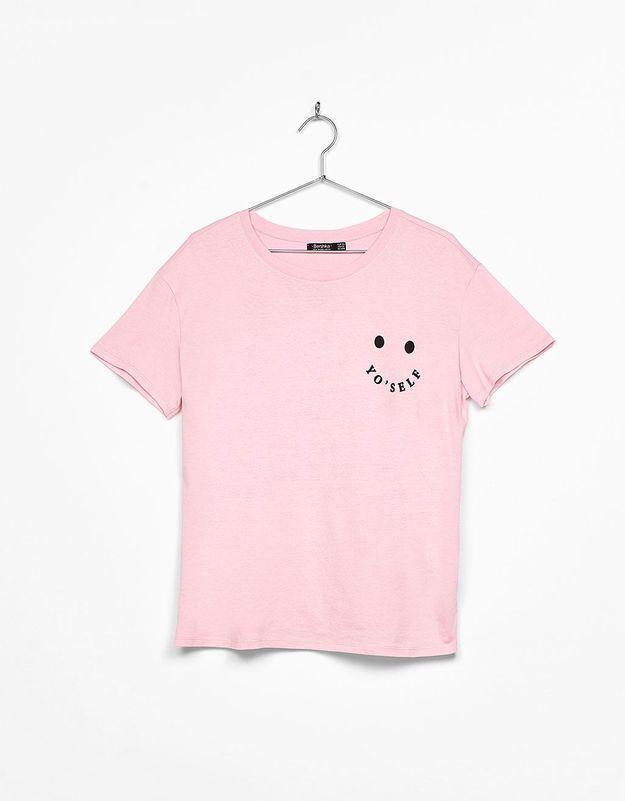 T-shirt rose Bershka