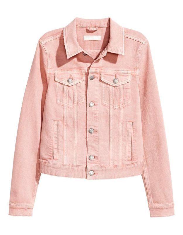 Veste en jean rose H&M