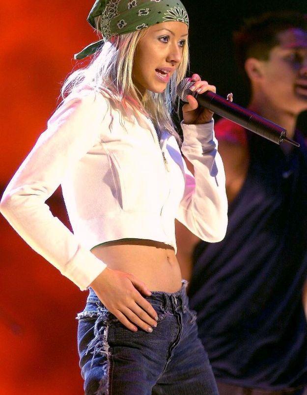 Christina Aguilera, grande modeuse s'est laissée aller au port du bandana
