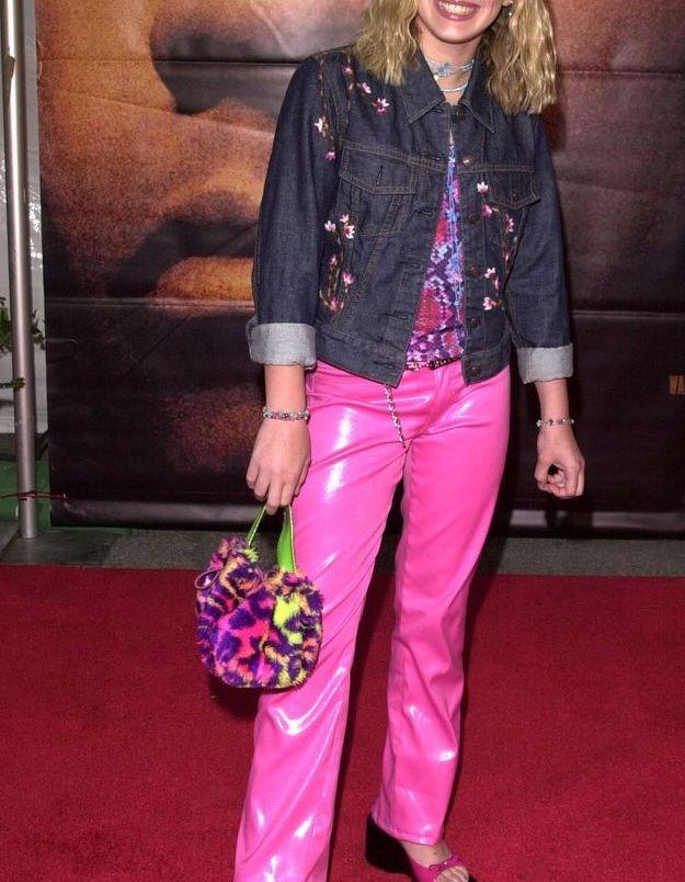 Hilary Duff, chaussée de sandales plateformes