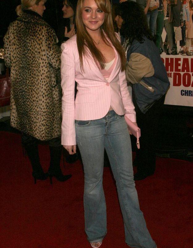 Le blazer sur jean, ou comment se la jouer working girl en herbe - Lindsay Lohan
