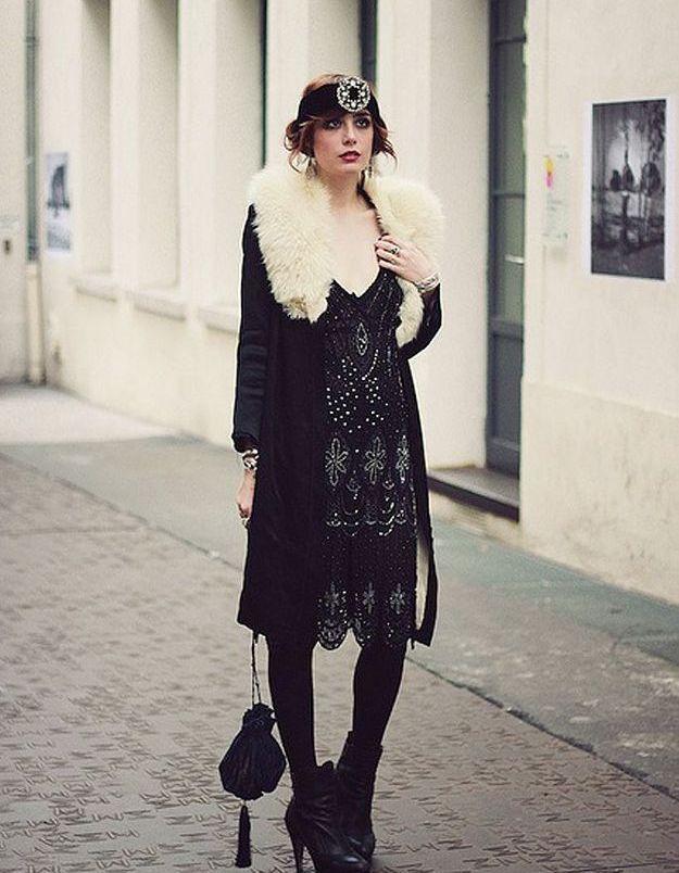 Mode années 20 manteau
