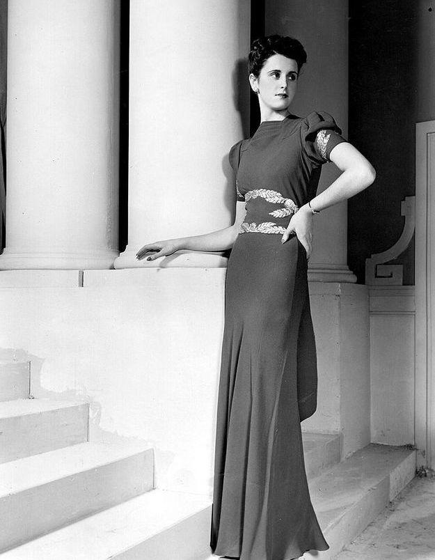 Mode années 30 robe du soir