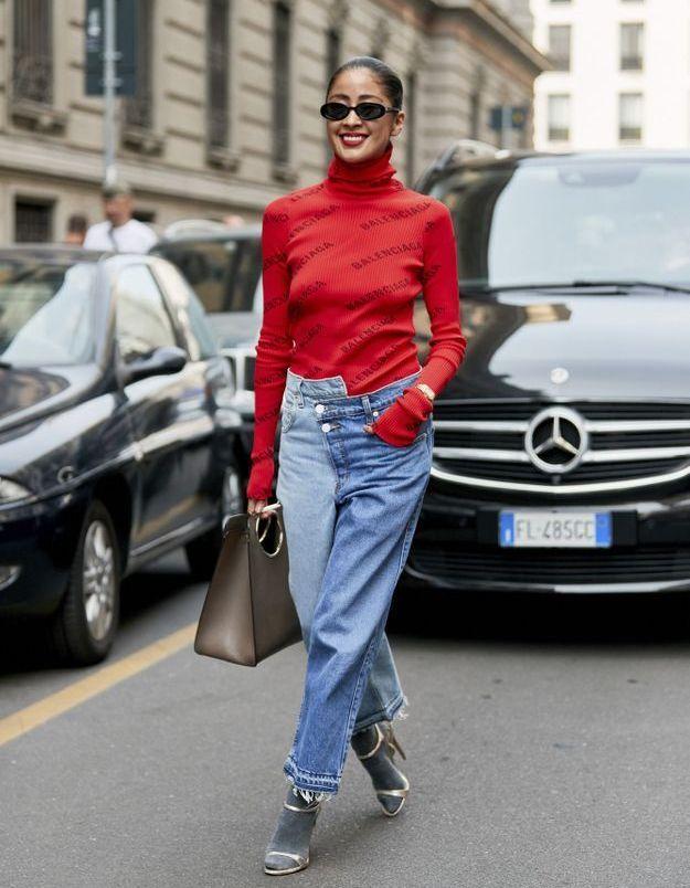 Le jean bicolore