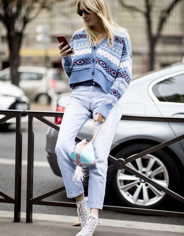 Le jean bleaché