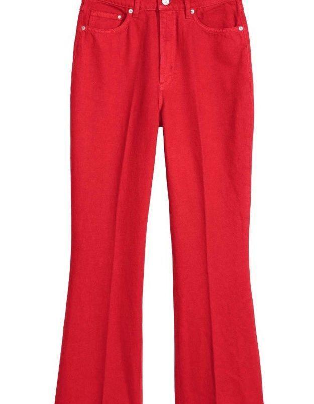 Jean de couleur coquelicot H&M