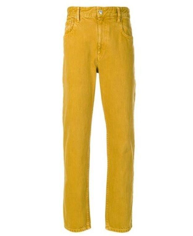 Jean de couleur jaune Isabel Marant