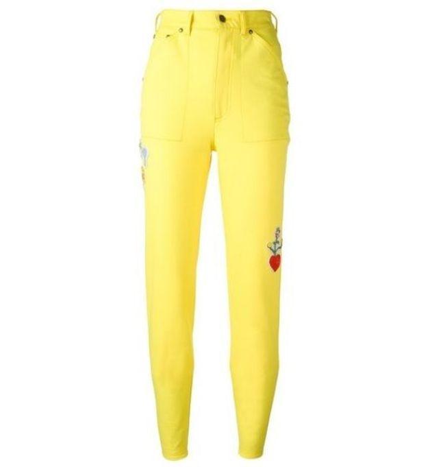 Jean de couleur jaune poussin Olympia Le Tan