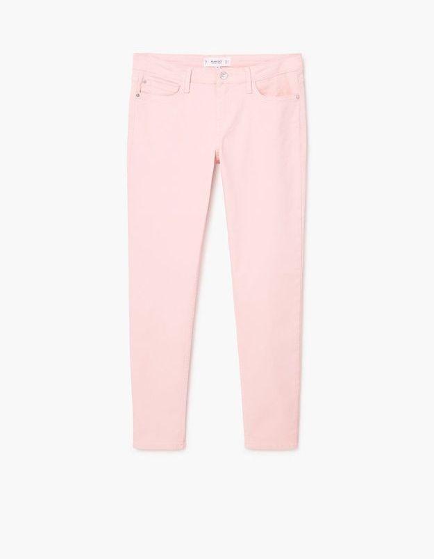 Jean de couleur rose pale Mango