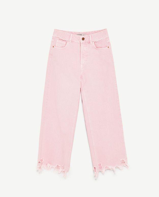 Jean de couleur rose Zara